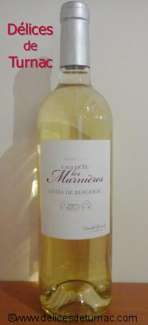 Vin Côtes de Bergerac  ''Château Les Marnières''  2017